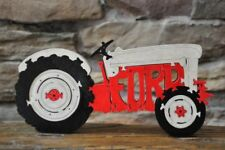 Old Red & Gray  Ford Farm Tractor NEW Wood Toy Puzzle Hand Made USA