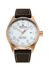 Alpina Startimer Pilot Men's AL-525S4S4 Automatic Rose Gold Case 44mm Watch