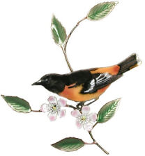 Baltimore Oriole Metal Bird Wall Art Sculpture by Bovano of Cheshire #W4121