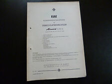 Original Service Manual Elac Stereo Plattenwechsler Miracord 16 PW 16