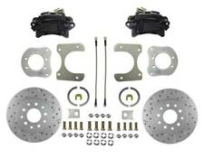 1984-06 Jeep Rear Disc Brake Conversion Kit (drilled & slotted; black calipers)