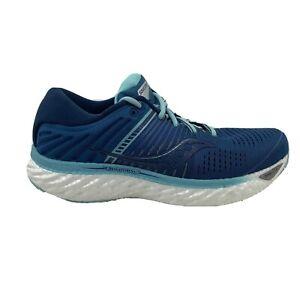 Saucony Triumph 17 Womens Size 8.5 Aqua Blue Lace Up Low Top Running Shoes