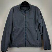 Marmot Fleece Full Zip Winter Jacket Mens Large Blue Gray Vented Ski Snowboard
