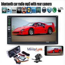 """7""""2 Din Touch Screen Car Radio+CAM Bluetooth TF Mirror Link MP5 Player FM Stereo"""