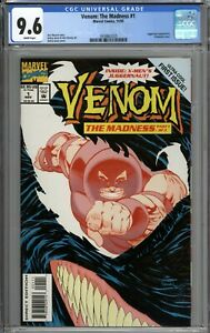 Venom: The Madness #1 CGC 9.6 NM+ Juggernaut Appearance WHITE PAGES