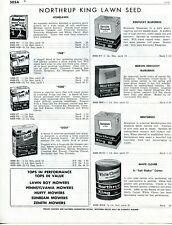 1958 Print Ad of Northrup King Lawn Seed par fore golf kentucky bluegrass clover