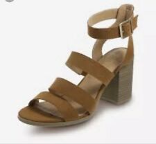 Tan Strapy High Heel Smart Casual Women's Sandals Shoes UK Size 11 US 13 EU 45