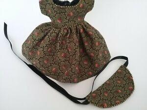 "8"" Ginny Doll Clothes, Handmade Beaded 'Eden' Dress & Hat"