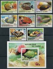 Zaire: 1980 Fish of the Coral Reef Set and Souvenir Sheet (974-981A) MNH