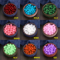104Pcs Glass Beads Round Loose Bead Jewelry Making DIY Crafts 8MM Multi-color