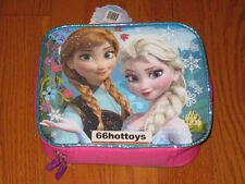 Disney Frozen Girl's Rectangular Lunch Kit- Pink with Purple Trim New