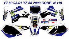 N 119 YAMAHA YZ 80 93-01 YZ 85 2000 Autocollants Déco Graphics Stickers Decals