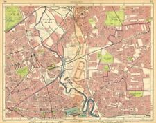 LONDON E. Bow West Ham Bromley Stratford Plaistow Poplar Canning Town 1925 map