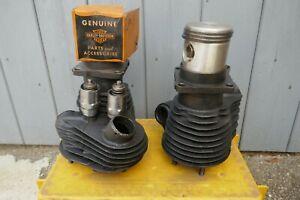 Harley Motor WLA  WL Servicar Zylinder top end Flathead NOS Kolben Ventile OEM