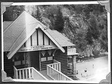 VINTAGE 1947 BRITISH COLUMBIA CANADA KOOTENAY RADIUM HOT SPRINGS OLD SIGN PHOTO