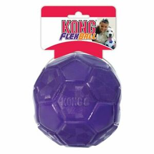 KONG Flexball Dog Toy Puppy Durable Fetch Chase Play Bounce Tug Grip-able M/L