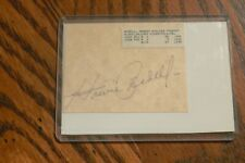 HOWIE BEDELL, BRAVES, PHILLIES signed Cut Autograph