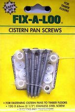 FIX-A-LOO CISTERN PAN SCREWS FOR TIMBER FLOORS - 12G X 63mm