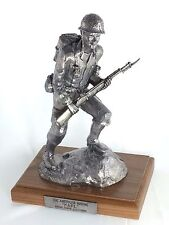Michael Ricker Pewter American Marine Karl Western Collection #602/1250 statue