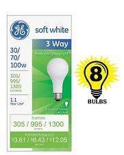 GE Lighting 97493 3 Way 30 70 100 Incandescent Light Bulb Soft White (Pack of 8)