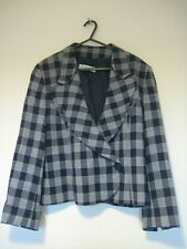 Guy Laroche black grey checked vintage jacket size 12?