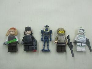 LEGO LOT 8  OF 5 MIXED LEGO STAR WARS  FIGURES ; SAE SEE TiiN ;SHUTTLE PILOTA.O