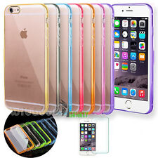 "Custodia Cover Bumper HARD BACK Trasparente per Apple iPhone 6 6s 4.7"" Pellicola"