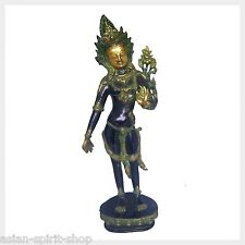 Sitatara Weiße Tara 43,5cm 3,4KG Messing Buddha Beschützerin Tibet Nepal Antik