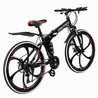 Outroad Mountain Bike  21 Speed 26in Folding Bike Double Disc Brake  Bicycles US