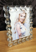 """Floral Crystal Glass Photo Picture Frame Size 5""""x7""""(13x18cm) Modern Design"""