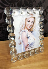 "Floral Crystal Glass Photo Picture Frame Size 5""x7""(13x18cm) Modern Design"