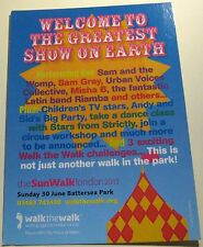 Advertising Event Welcome to the greatest show on earth Battersea Park - unposte