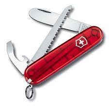 Victorinox Couteaux de poche des enfants avec scie, TRANSPARENT ROUGE, incl.