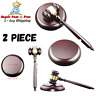 """Handmade Wooden Gavel And Block Gift For Lawyer Judge Executive Auction Sale 10"""""""