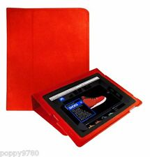 Gumdrop Cases Surf Convertible Case for Apple iPad 1 Generation Faux Suede Red