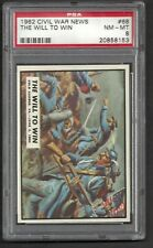 1962 Topps Civil War News - The Will to Win #68  PSA 8 NM-MT