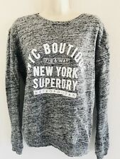 SUPERDRY WOMENS GRAY SWEATSHIRT NYC BOUTIQUE SIZE XS NEW WITH TAGS MSRP $59