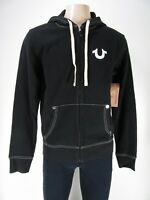 NWT True Religion Classic logo Zip Up HOODIE, BLACK , Size L, Retail Price $159
