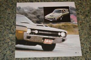 ★★1970 AMC AMX PICTURE FEATURE PRINT PHOTO 69 70 390 ENGINE JAVELIN SST★★