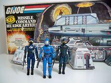 D1002118 MISSILE COMMAND HEADQUARTERS IN BOX G.I. JOE COBRA 1982 SEARS COMPLETE
