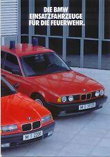 BMW 3-Series & 5-Series Fire Service Vehicles 1991-92 Original German Brochure