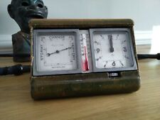 Mappin & Webb Travel Clock & Thermometer & Barometer Weather Station Art Deco