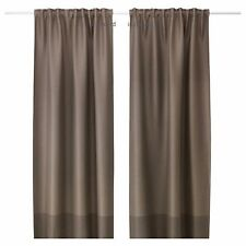 IKEA MARJUN Brown Block-Out Curtains, Window Drapes, Thick Room Darkening