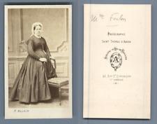 St Germain, Madame Foulon Vintage CDV albumen carte de visite CDV, tirag
