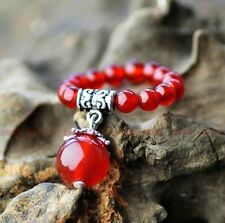 Original handmade natural red agate beads ring for Christmas