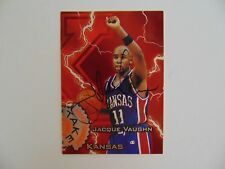"""Kansas"" Jacque Vaughn Hand Signed Wheels Rookie Card Todd Mueller COA"