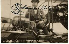 ~1910 autographed real photo post card Claude Grahame-White aviation aviator