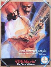 1990'S Carlos Santana Playing Guitar D'Addario Strings Promo Print Poster 17X23
