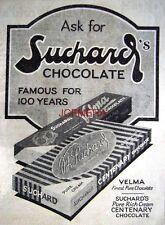 1927 SUCHARD 'Velma' Chocolate Confectionary AD #2 - Small Original Print ADVERT