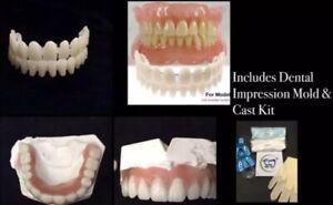 DIY Denture Kit False Teeth  Alginate Dental Impression & Cast Mold A2 Size 23